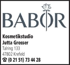 Anzeige Kosmetikstudio Grosser