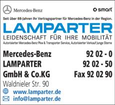 Anzeige Mercedes-Benz LAMPARTER GmbH & Co.KG