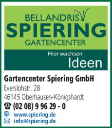 Anzeige Gartencenter Spiering GmbH