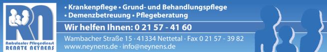 Anzeige Krankenpflege Ambulanter Pflegedienst Neynens Renate