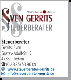 Anzeige Steuerberater Gerrits Sven