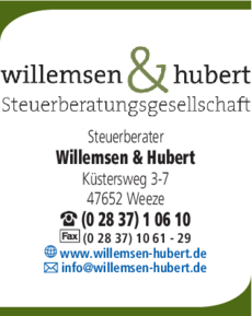 Anzeige Steuerberater Willemsen & Hubert