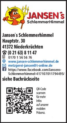 Anzeige Catering Jansen