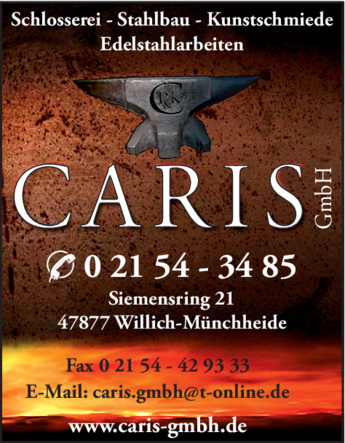 Anzeige Caris GmbH