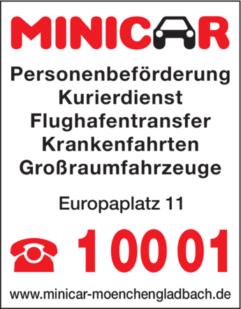 Anzeige MINICAR