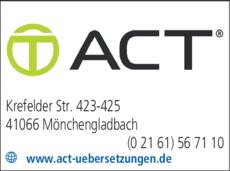 Anzeige A.C.T. GmbH Dolmetscher- und Übersetzungsbüro