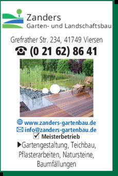Anzeige Garten- u. Landschaftsbau Zanders