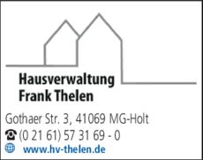 Anzeige Hausverwaltung Thelen