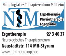 Anzeige Ergotherapie NTM