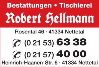 Anzeige Hellmann Robert