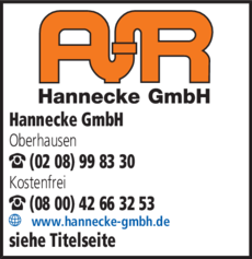 Anzeige Rohrreinigung Hannecke GmbH
