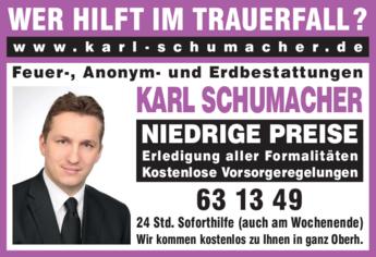 Anzeige Schumacher Karl