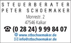 Anzeige Schoemaker Peter Steuerberater
