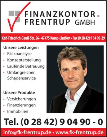 Anzeige Finanzkontor Frentrup GmbH