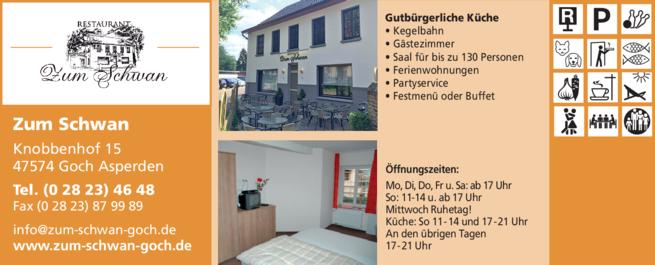 Anzeige Zum Schwan Inh. Jens Barten