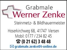 Anzeige GRABMALE ZENKE