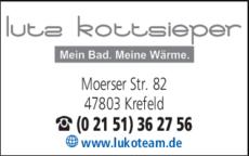 Anzeige Lutz Kottsieper Bad- und Heizungstechnik GmbH