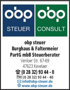 Anzeige obp steuer Burghaus & Faltermeier PartG mbB