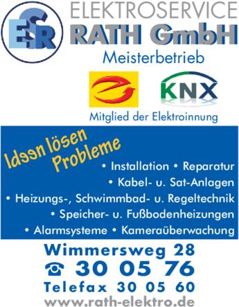 Anzeige Elektroservice Rath GmbH