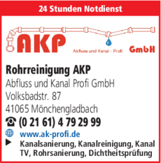 Anzeige AKP Abfluss und Kanal Profi GmbH