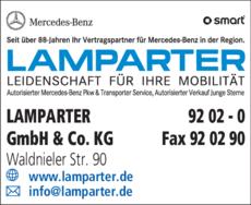 Anzeige Lamparter GmbH & Co. KG