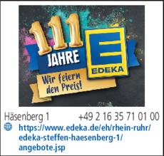 Supermarkt Edeka Steffen In Schwalmtal In Das örtliche
