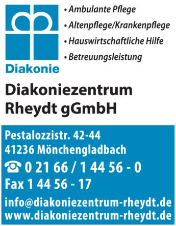 Anzeige Diakonie Diakoniezentrum Rheydt Ambulante Kranken- u. Altenpflege