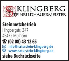 Anzeige Klingberg GbR Peter und Klaus