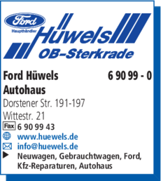 Anzeige Ford Hüwels