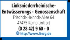 Anzeige Linksniederrheinische Entwässerungs-Genossenschaft