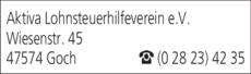 Anzeige Aktiva Lohnsteuerhilfeverein e.V.