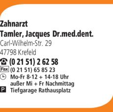 Anzeige Tamler Jacques