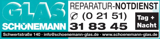 Anzeige Glas Schönemann