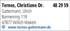 Anzeige Ternes Chistiane Dr., Gattermann Ulrich