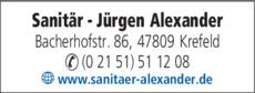 Anzeige Alexander Jürgen