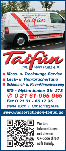 Anzeige Rohrbruchortung Taifun Inh. Willi Ruez e.K.