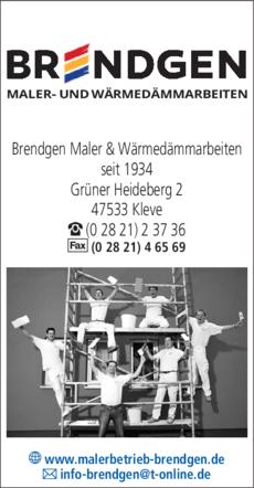 Anzeige Brendgen Maler & Wärmedämmarbeiten
