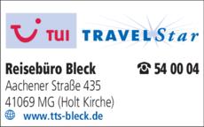 Anzeige Reisebüro Bleck