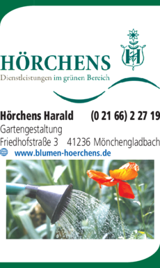 Anzeige Gartenbau Hörchens Harald