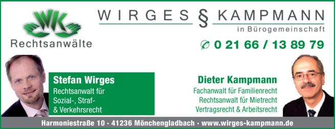 Anzeige Rechtsanwälte Wirges & Kampmann