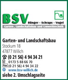 Anzeige Garten- und Landschaftsbau BSV