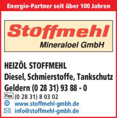 Anzeige Stoffmehl Mineraloel GmbH