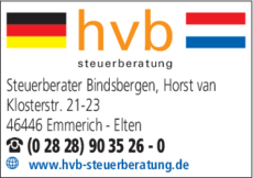 Anzeige Steuerberater Bindsbergen Horst van