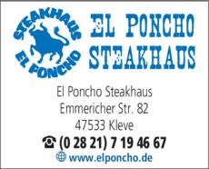 Anzeige El Poncho Steakhaus