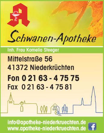 Anzeige Schwanen Apotheke Inh. Kornelia Steeger