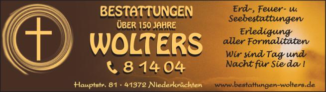 Anzeige Bestattungen Wolters