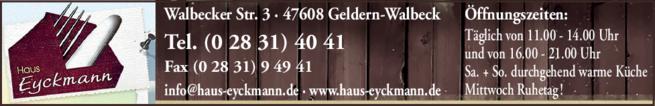 Anzeige Haus Eyckmann
