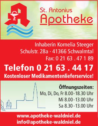 Anzeige Antonius Apotheke Inh. Kornelia Steeger