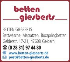 Anzeige Giesberts