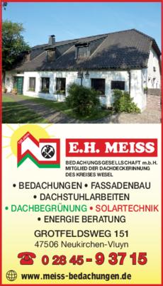 Anzeige Dachdecker Meiss E. H. Bedachungsgesellschaft m.b.H.